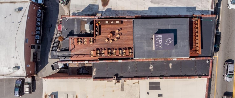 Horton Hotel Rooftop Bar Aerial